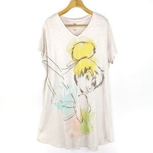 Disney Store Plus Size Tinker Bell Nightshirt 3XL